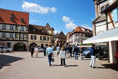 Typical Alsace village. France Stock Image