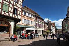 Typical Alsace village. France Royalty Free Stock Photos