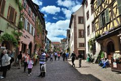 Typical Alsace village. France Stock Images