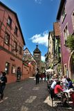 Typical Alsace village. France Stock Photos