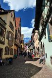 Typical Alsace village. France Royalty Free Stock Image