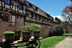 Typical Alsace village. France Stock Photos