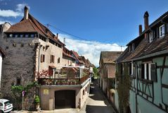 Typical Alsace village. France Stock Photography