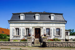 Typical alsacien house in small village, Bas-Rhin Royalty Free Stock Photo