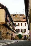Typical alsacien house in small village, Bas-Rhin Royalty Free Stock Image
