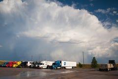 Typical American trucks Stock Photo
