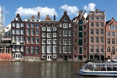 Typical Amsterdam architecture Stock Images