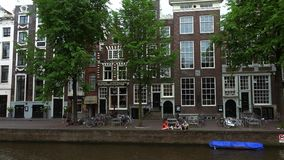 Typical Amsterdam buildings  City of Amsterdam. Typical Amsterdam buildings  Amsterdam Netherlands videoclip stock video footage