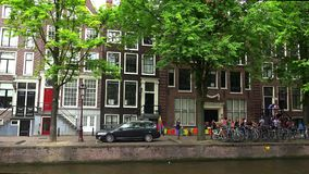 Typical Amsterdam buildings  City of Amsterdam. Typical Amsterdam buildings  Amsterdam Netherlands videoclip stock video