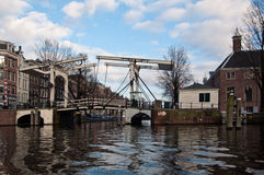 Typical Amsterdam Drawbridge Royalty Free Stock Photos