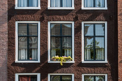 Typical Amsterdam house. Detail of a house with in Amsterdam in Netherlands Royalty Free Stock Photography
