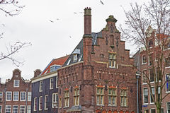 Typical Amsterdam houses Royalty Free Stock Images
