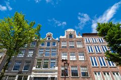 Typical Amsterdam Houses Royalty Free Stock Photography
