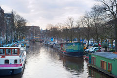 Typical Amsterdam. Netherlands Royalty Free Stock Photos