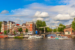 Typical Amsterdam view. Stock Photography