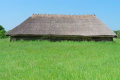 Typical ancient big village shed Stock Image