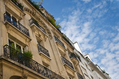 Typical ancient parisian Building in Paris stock image