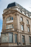 Typical ancient parisian Building in Paris stock images