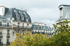 Typical ancient parisian Building in Paris Royalty Free Stock Photos