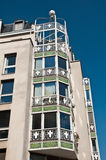 Typical ancient parisian Building 60's in Paris Royalty Free Stock Photography