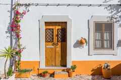 Typical ancient Portuguese house facade. Stock Images