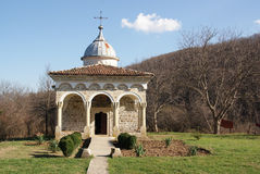 Typical ancient rocky orthodox monastery Royalty Free Stock Image