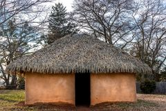 Free Typical And Historical Wattle And Daub Houses Used By Cherokee And Atsina Indian Tribes Royalty Free Stock Images - 135491799
