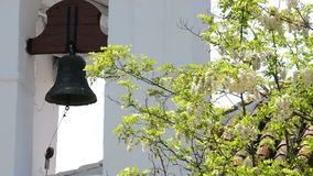 Typical andalusian bell tower in a church. A sunny day stock video footage