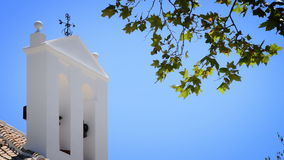 Typical andalusian bell tower. Detail of religious building stock footage