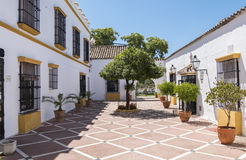 Typical Andalusian courtyard in Spain Royalty Free Stock Image