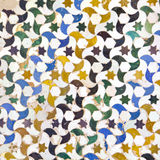 Typical Andalusian mosaic, Spain. Typical Andalusian mosaic, very colorful, geometric motifs Arab cultural origin. Andalusia, Spain Royalty Free Stock Image