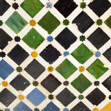 Typical Andalusian mosaic, Spain. Typical Andalusian mosaic, very colorful, geometric motifs Arab cultural origin. Andalusia, Spain Stock Photos