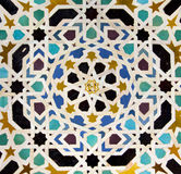 Typical Andalusian mosaic, Spain. Typical Andalusian mosaic, very colorful, geometric motifs Arab cultural origin. Andalusia, Spain Royalty Free Stock Photo