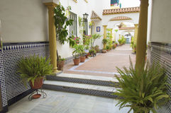Typical Andalusian patio Stock Images