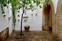 Typical Andalusian patio architecture Royalty Free Stock Photo