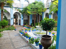 Typical andalusian patio in Cordoba, Andalusia, Sp Royalty Free Stock Photos