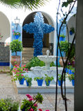 Typical andalusian patio in Cordoba, Andalusia, Stock Photos