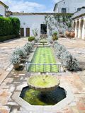 Typical Andalusian patio. Stock Photos