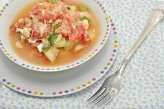 Typical Andalusian salad Stock Photography