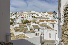 Typical Andalusian village. Zuheros, with white houses Royalty Free Stock Photos