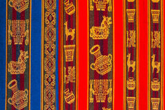 Typical andean textile Peru. Typical textile detail from de peruvian andes at Peru Stock Image