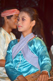 Typical Ang Rot rural dancer Royalty Free Stock Photos