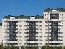 Typical Apartment Blocks. Facade of typical apartment blocks from Astana, Kazakhstan Stock Photos