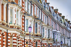 Typical Apartments Building at West-London. Royalty Free Stock Photo