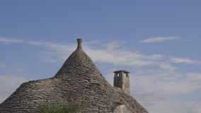 Typical Apulian house. Trullo oldest typical house in the Puglia region stock video