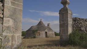 Typical Apulian house 2. Trullo oldest typical house in the Puglia region stock video footage