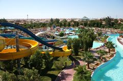 A typical Aqua Park. In a holiday Resort in Egipt, Hurghada Royalty Free Stock Image