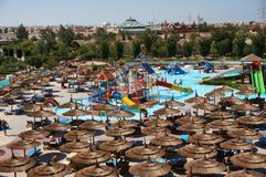 A typical Aqua Park. In a holiday Resort in Egipt, Hurghada Stock Image