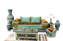 Typical Arabian style drawing room setup Royalty Free Stock Images