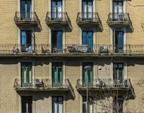 Architecture of Barcelona, Spain. Typical  architectural details in the city center of the Barcelona, Spain royalty free stock photo